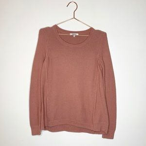 Madewell Salmon Cable Knit Sweater